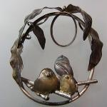 シマエナガのペンダントヘッド