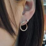 18金、ダイヤアートイヤリング オリジナル