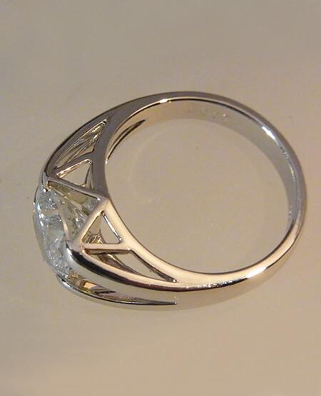 プラチナ、ダイヤリング