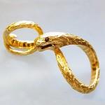ヘビのペンダントヘッド 24金